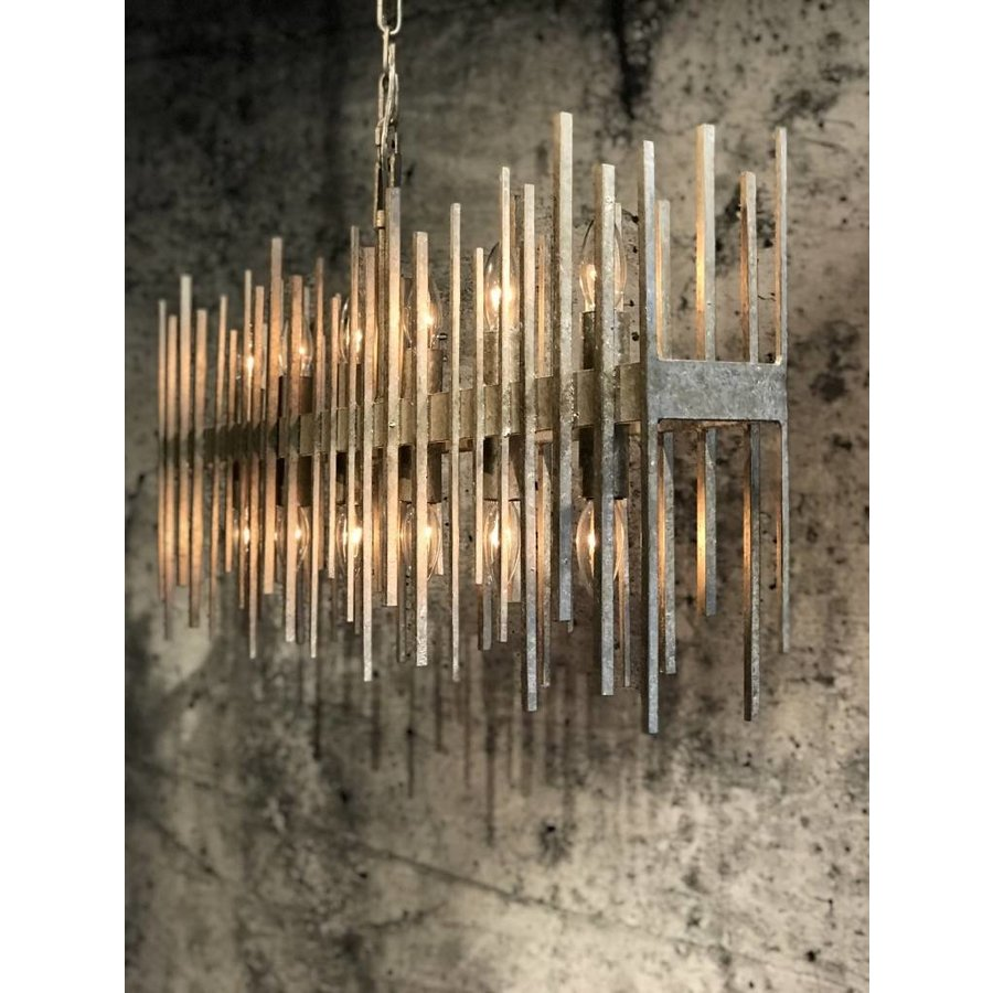Hanglamp Raffelo metaal zwart of zilver-3