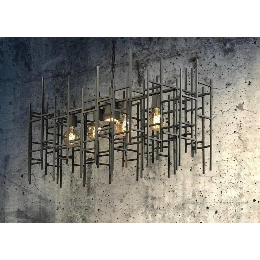 Hanglamp Figo metaal in donkergrijs of zilver-1
