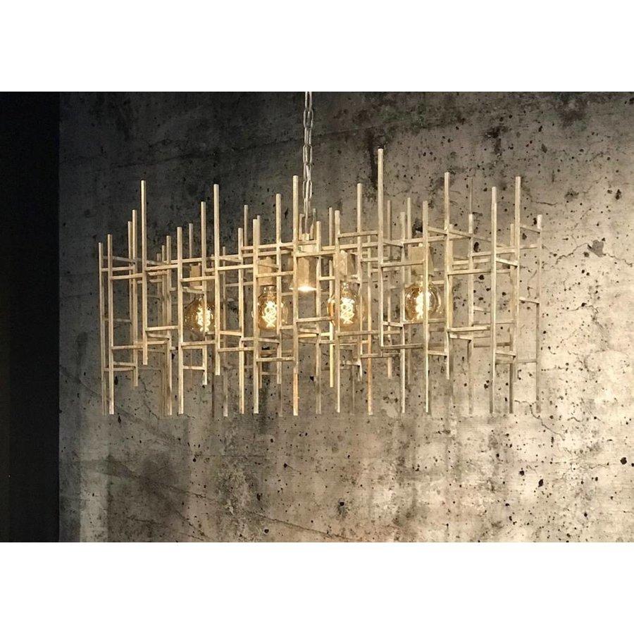Hanglamp Figo metaal in donkergrijs of zilver-2