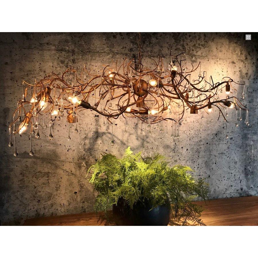 Hanglamp COMO ovaal 170 cm bladzilver-10
