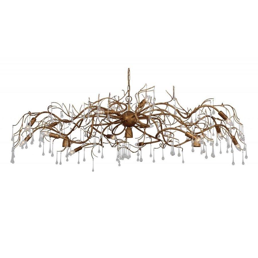Hanglamp COMO ovaal 170 cm bladzilver-2