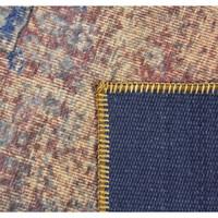 thumb-Tapijt Novum Konya Roest vintage oranje blauw-3