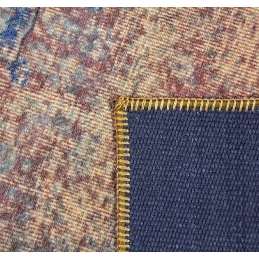 Tapijt Novum Konya Roest vintage oranje blauw-3
