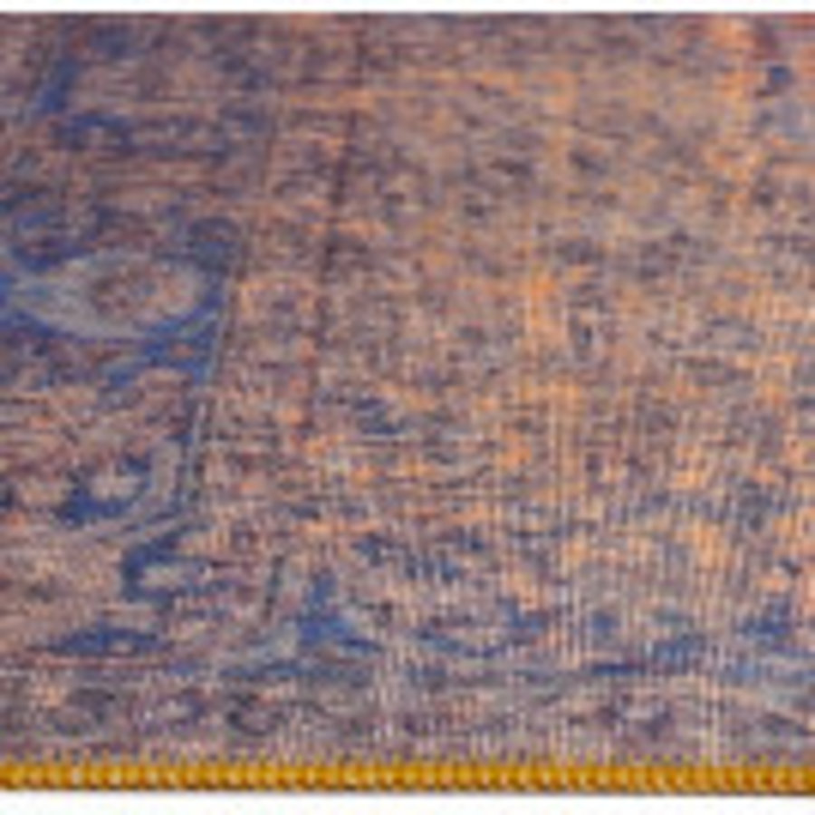 Tapijt Novum Konya Roest vintage oranje blauw-4