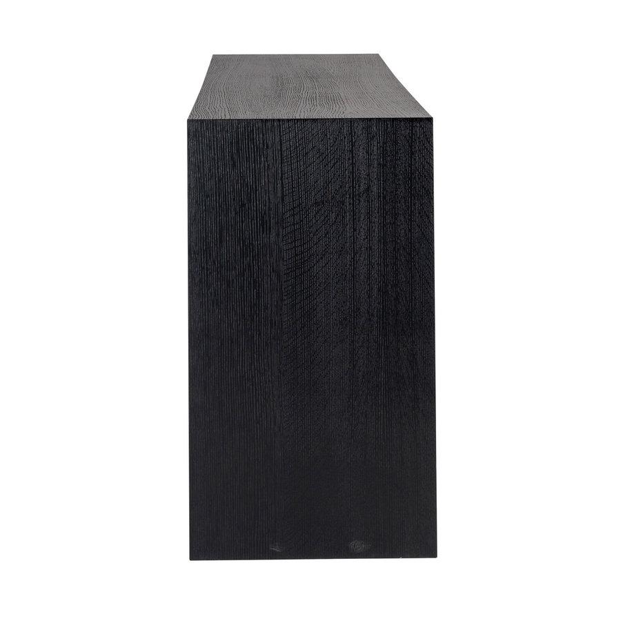 Wandtafel Oakura zwart 80 x 200 x 45 cm-2