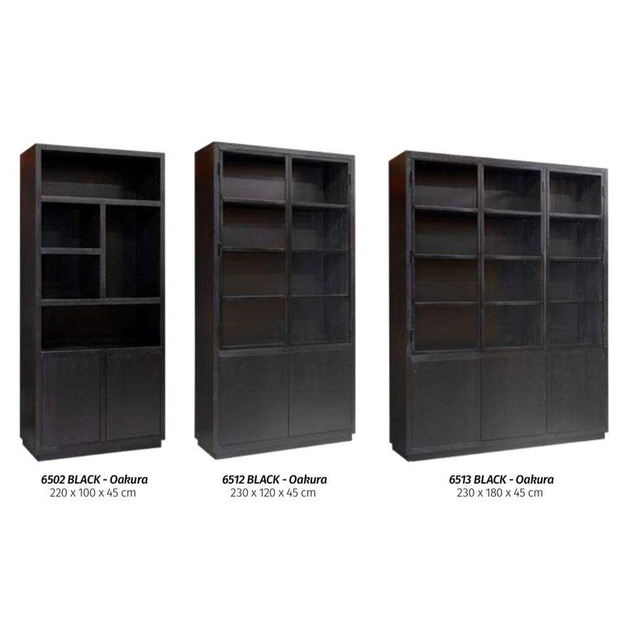Buffetkast Oakura 2x2-deuren zwart-4