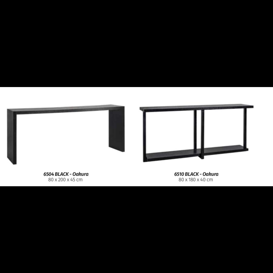 Wandtafel Oakura zwart 80 x 200 x 45 cm-4