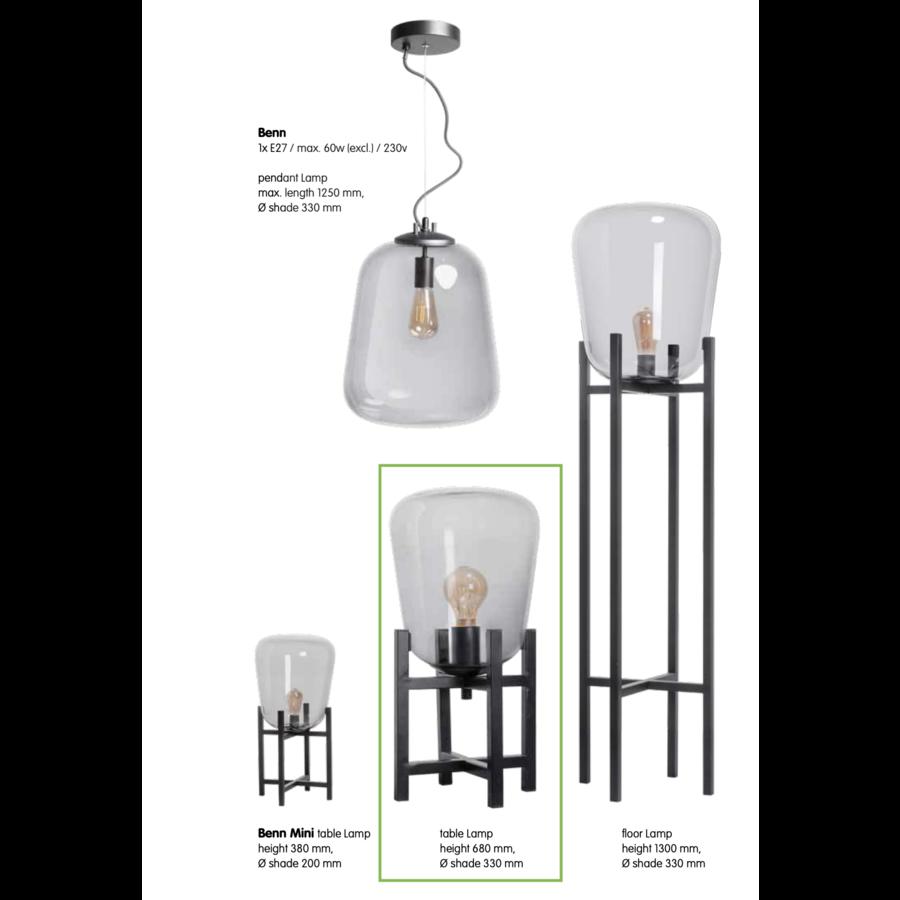 Tafellamp Benn 68 cm hoog ø 33 cm-6