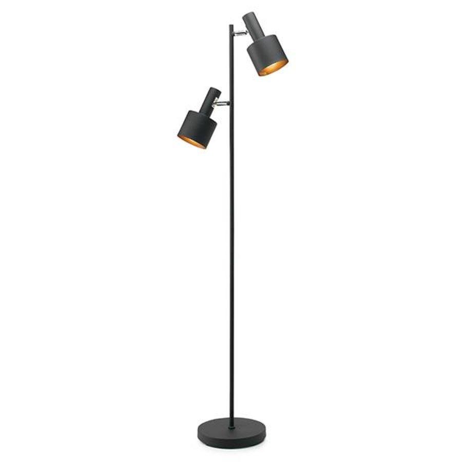 Vloerlamp Sledge met 2 metalen richtbare kapjes-1