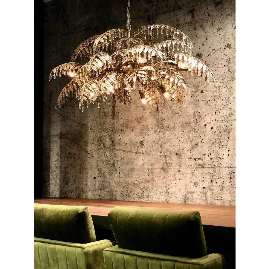 Hanglamp Bellagio ovaal in ambachtelijk zilver-5