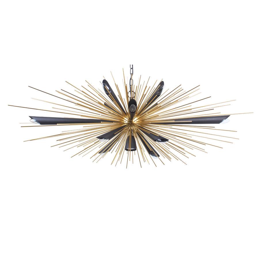 Hanglamp Springfield zwart/goud-1