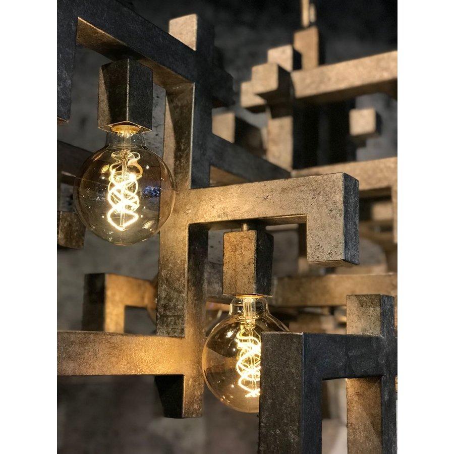 Hanglamp Magnus vierkant zwart of zilver-4