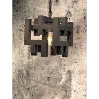 thumb-Hanglamp Magnus vierkant zwart of zilver-1