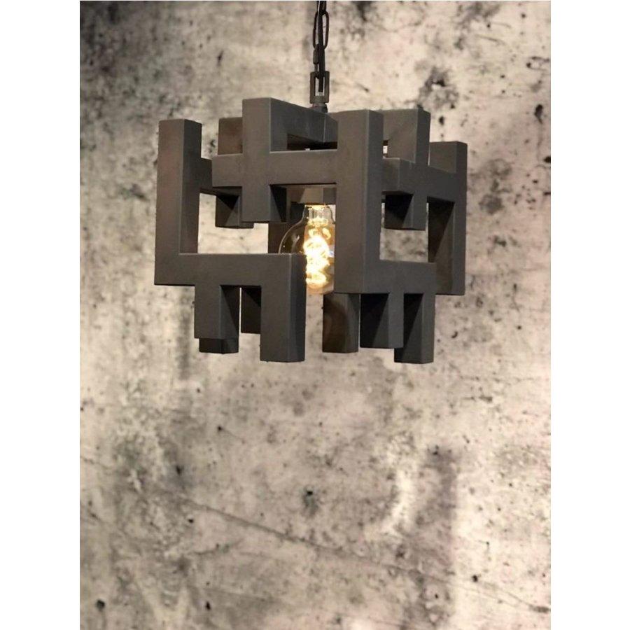 Hanglamp Magnus vierkant zwart of zilver-1