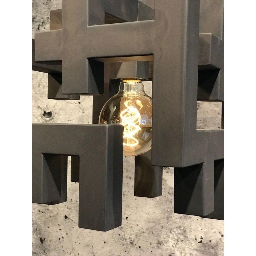 Hanglamp Magnus vierkant zwart of zilver-3