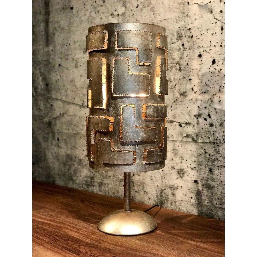 Tafellamp Pablo in brons of zilver-3