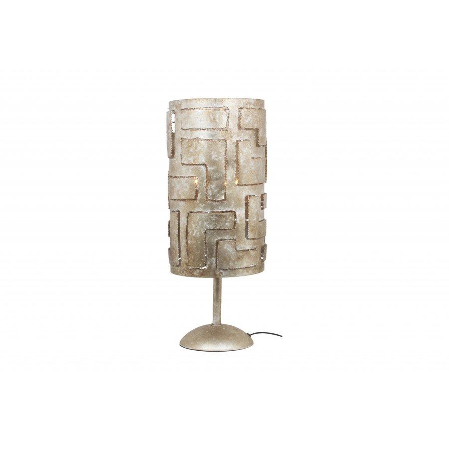 Tafellamp Pablo in brons of zilver-1