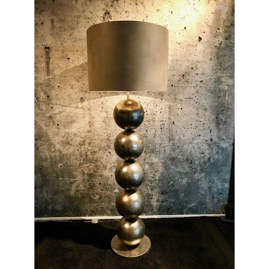 Vloerlamp Boss vijf bollen Silver Cream-1