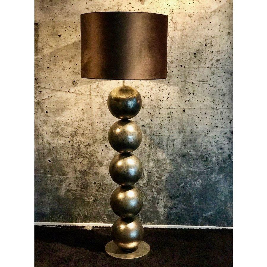 Vloerlamp Boss vijf bollen Silver Cream-3
