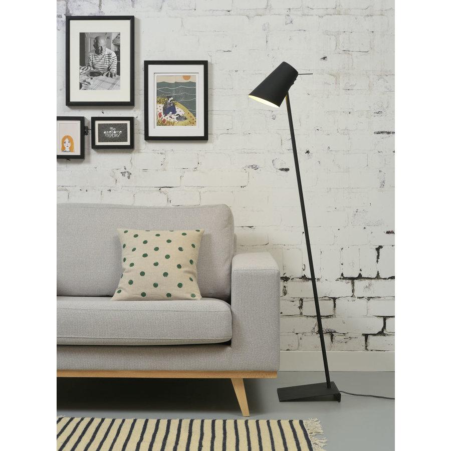 Vloerlamp Cardiff in zwart, wit of grijs-7