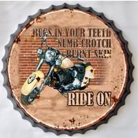 Wanddecoratie kroondop Motor Ride On