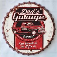 Wanddecoratie kroondop Dad's Garage