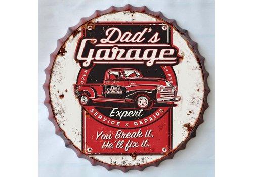 Wanddecoratie Dad's Garage