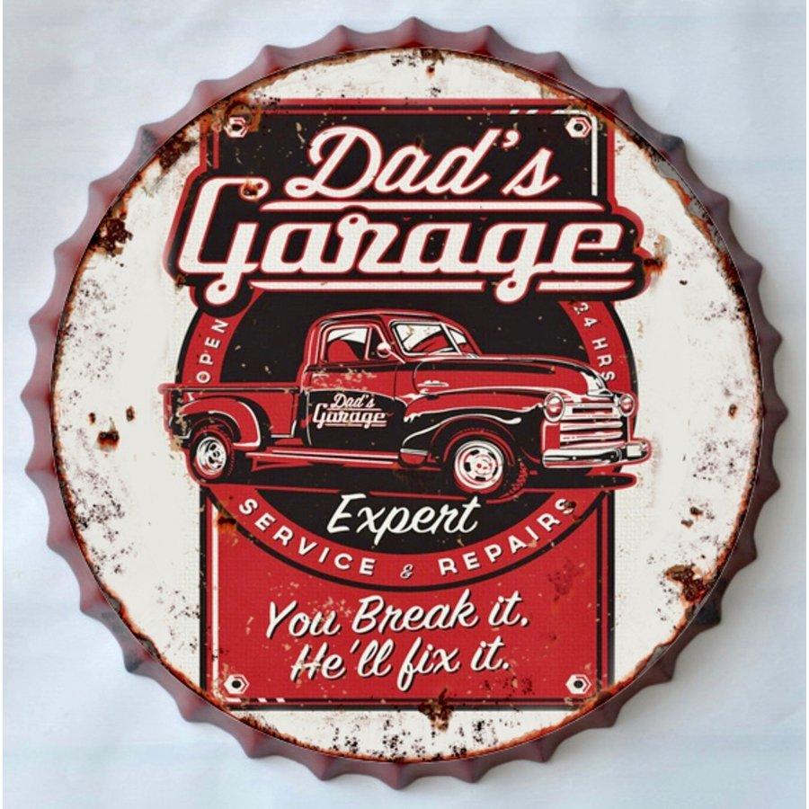 Wanddecoratie kroondop Dad's Garage-1