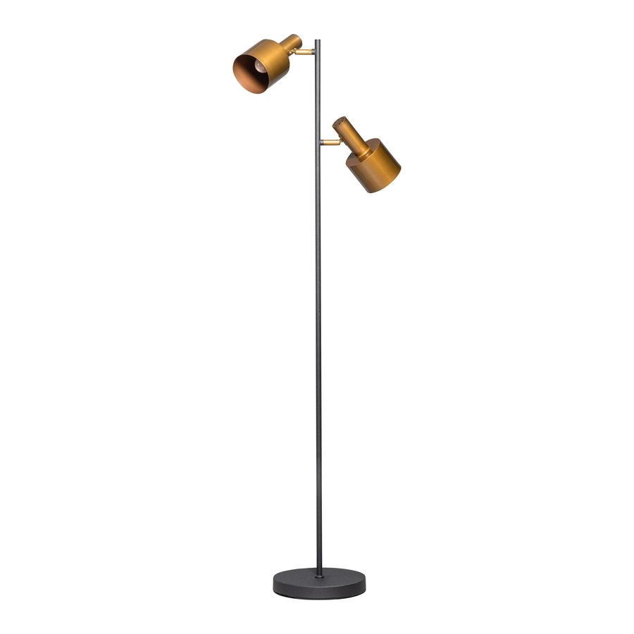 Vloerlamp Sledge met 2 metalen richtbare kapjes-2