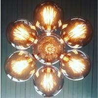 thumb-No.3 Hanglamp bundel 7-lichts koper of goud-4
