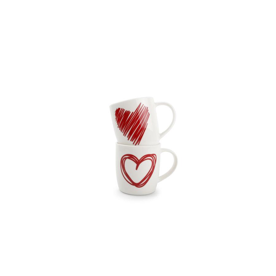 Set van 2 mokken Red Hearts-2