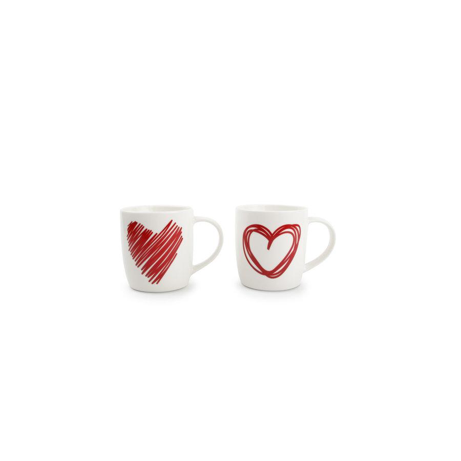 Set van 2 mokken Red Hearts-1