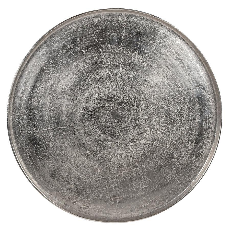 Salontafel Lyam aluminium zilver ø 70 cm-2