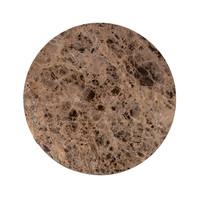 thumb-Salontafel Orion ø 60 met bruin marmer-3