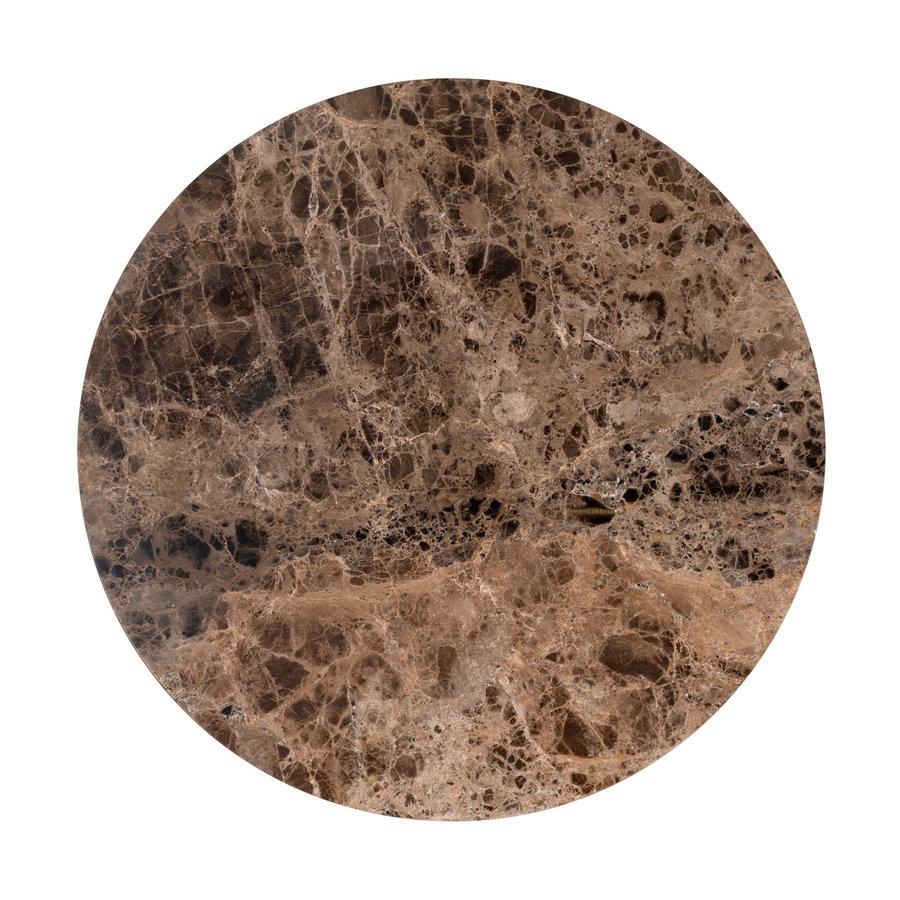 Salontafel Orion ø 80 met bruin marmer-2