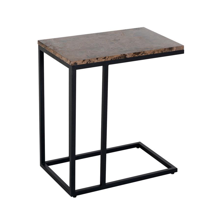 Sofa tafel Orion met bruin marmer-1