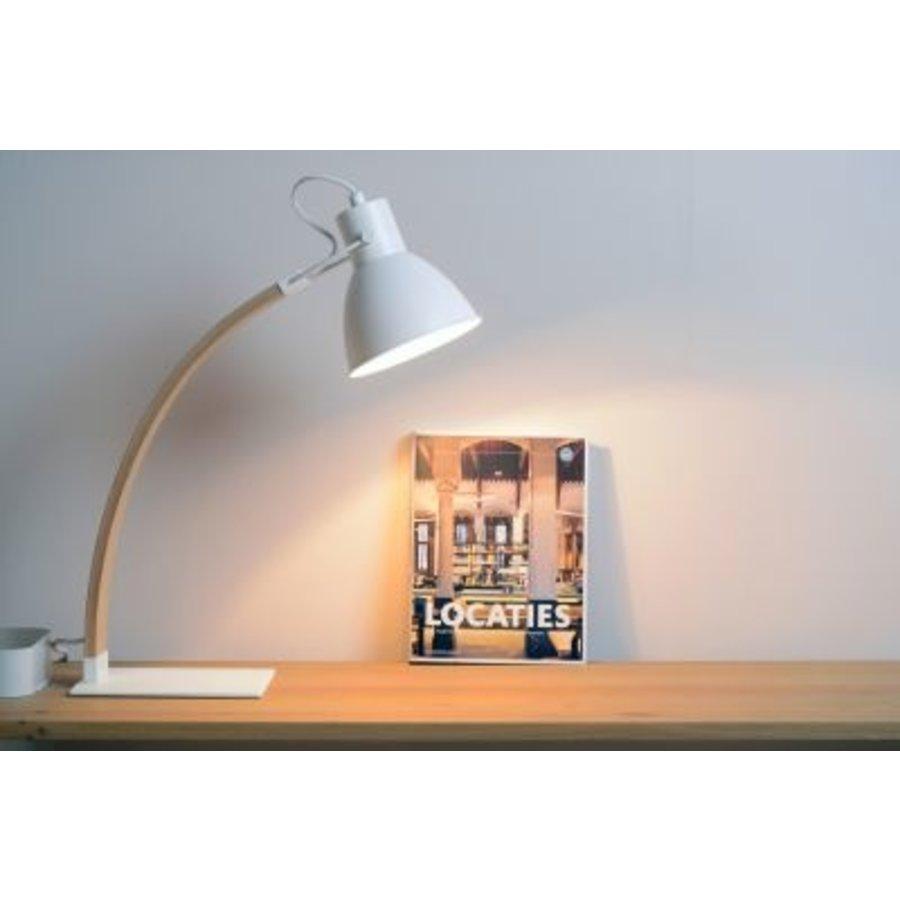Bureaulamp Curf in zwart of wit-3