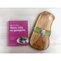 thumb-Cadeau: Minibijbel Vlees, wild en gevogelte met olijfhouten steakplank-2