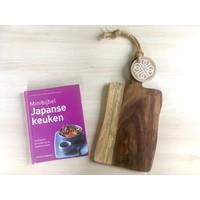 thumb-Cadeau: Minibijbel Japanse keuken met Serveerplank Rozenhout-1