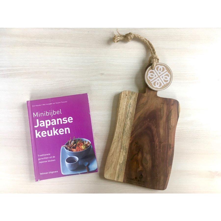 Cadeau: Minibijbel Japanse keuken met Serveerplank Rozenhout-1
