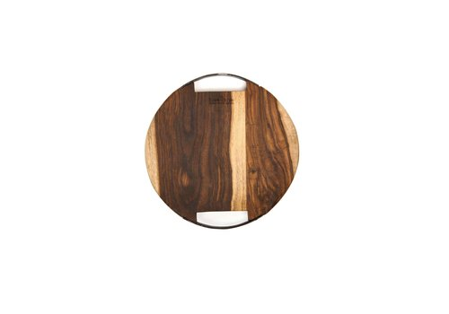 Pure Rose Wood serveerplank rond