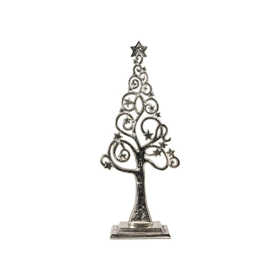 Decoratief aluminium beeldje kerstboom-1