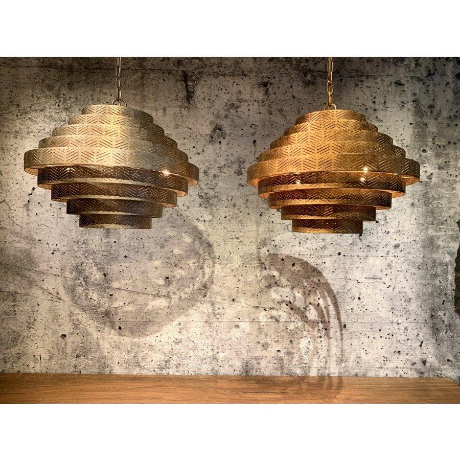 Hanglamp Vegas rond in zilver of brons-3