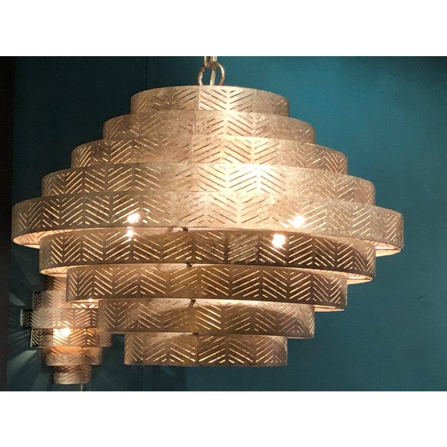 Hanglamp Vegas rond in zilver of brons-4