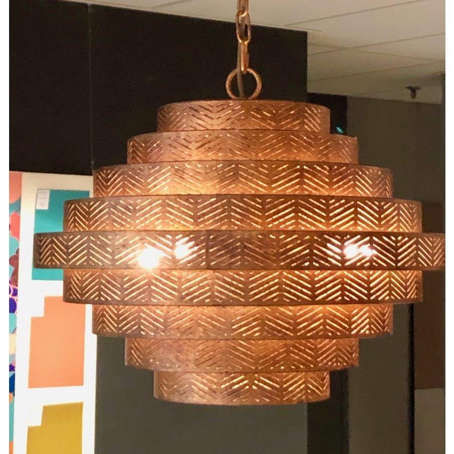 Hanglamp Vegas rond in zilver of brons-5
