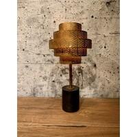 thumb-Tafellamp Vegas in zilver of brons-1
