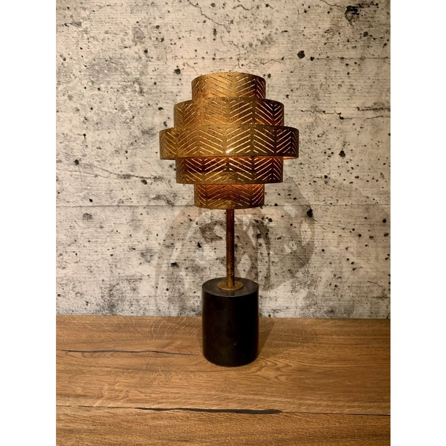 Tafellamp Vegas in zilver of brons-1