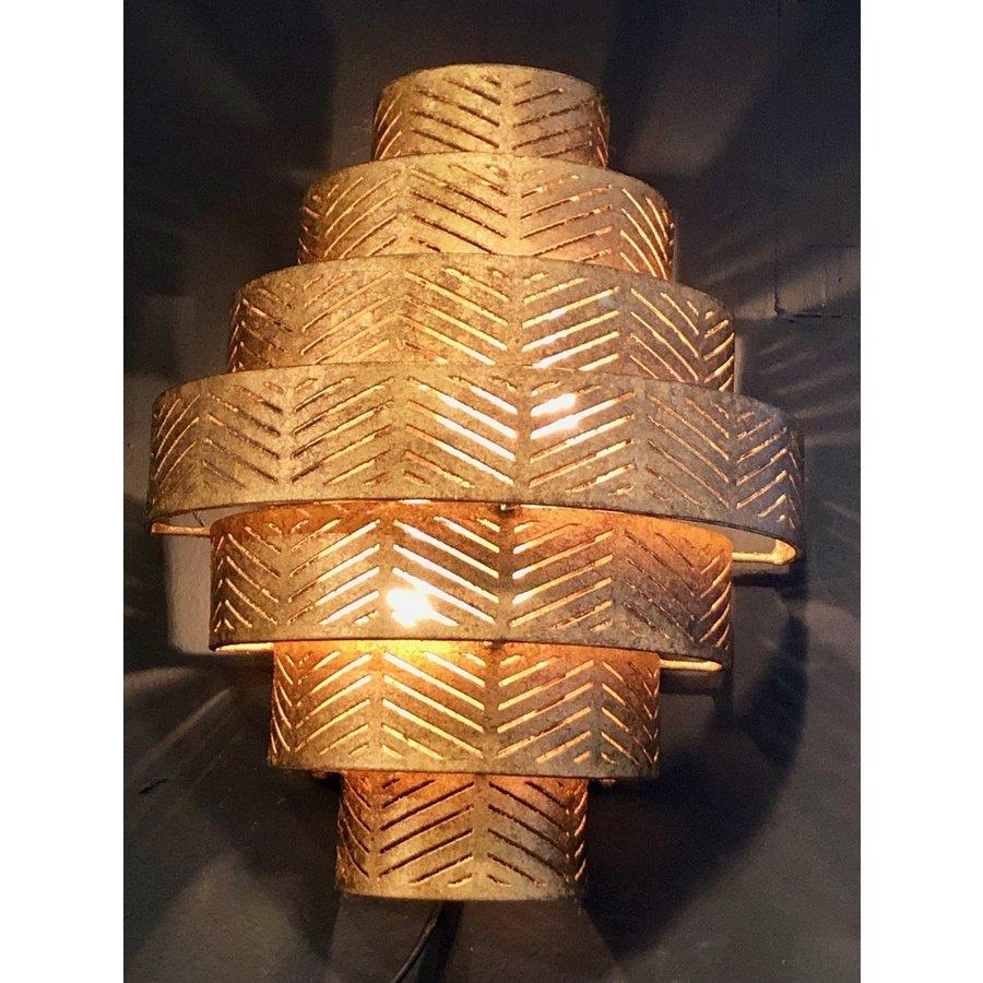 Wandlamp Vegas in zilver of brons-3