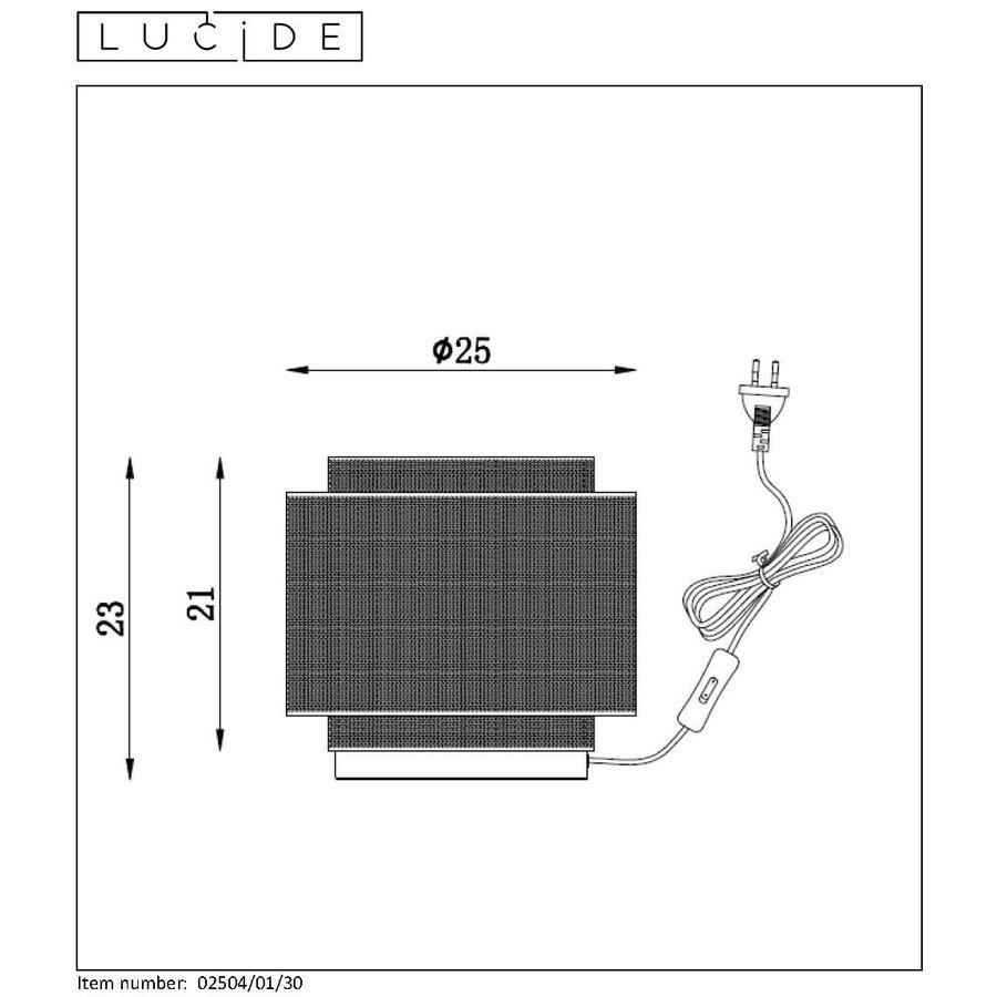 Tafellamp Orrin ø25 cm metaal zwart en koper-5