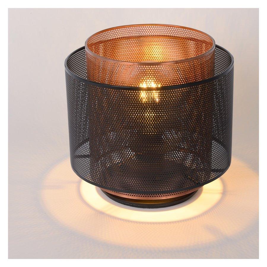Tafellamp Orrin ø25 cm metaal zwart en koper-3
